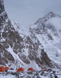 K2 Mountain Base Camp K2 2004: a well earned rest at base camp : Italian expedition Everest ...