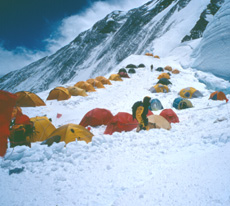 K2 Base Camp At Night The first images of Camp I, which was set up yesterday at around at ...